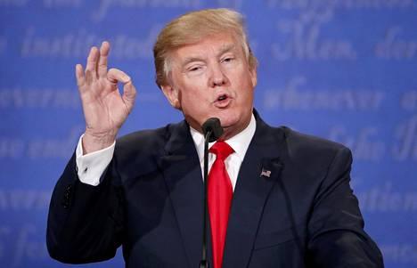 Republikaanien presidenttiehdokas Donald Trump puhui viimeisessä vaaliväittelyssä Las Vegasissa torstaina.