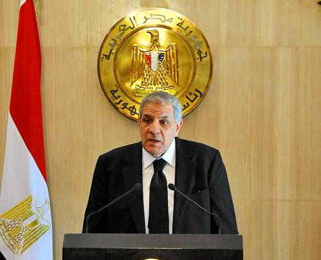 Egyptin uusi pääministeri Ibrahim Mahlab tänään tiistaina Kairossa.