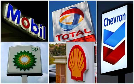 Suurimmat länsimaiset öljy-yhtiöt BP, Chevron, Exxon Mobil, Shell ja Total ovat joutuneet vastaamaan sijoittajien vaatimuksiin ottaa ilmastoriskit paremmin huomioon.