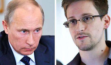 Vladimir Putin ja Edward Snowden