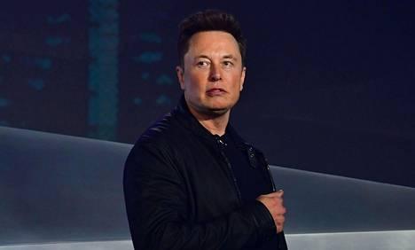 Teslan perustaja ja toimitusjohtaja Elon Musk Cybertruck-auton esittelytilaisuudessa Kaliforniassa 21. marraskuuta 2019.