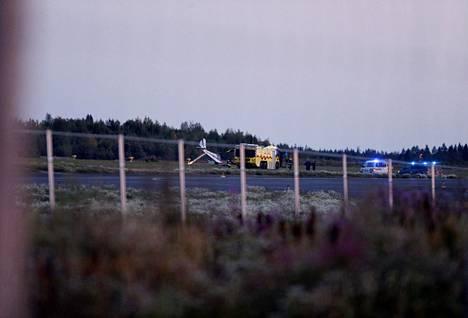 Pelastuslaitos sai hälytyksen hieman ennen kello yhdeksää keskiviikkoiltana.