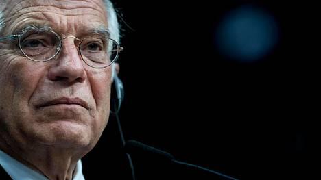 Euroopan unionin ulkosuhdejohtaja Josep Borrell osallistui lehdistötilaisuuteem Brysselissä tammikuussa.
