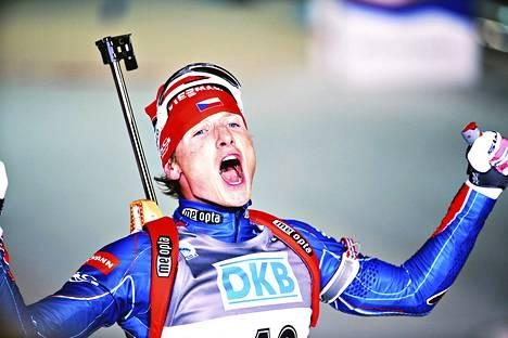 Ondrej Moravec voitti pronssia miesten normaalimatkalla.