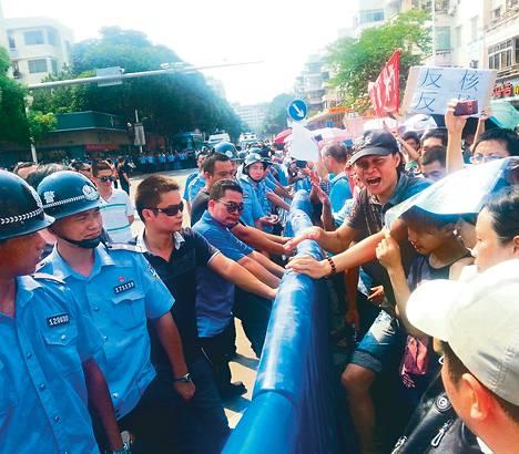 Jiangmenissä mielenosoittajat saivat torpattua suunnitellun uraaninkäsittelylaitoksen heinäkuussa.