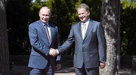 Vladimir Putin ja Sauli Niinistö tapasivat viimeksi heinäkuussa Putinin vieraillessa Suomessa.
