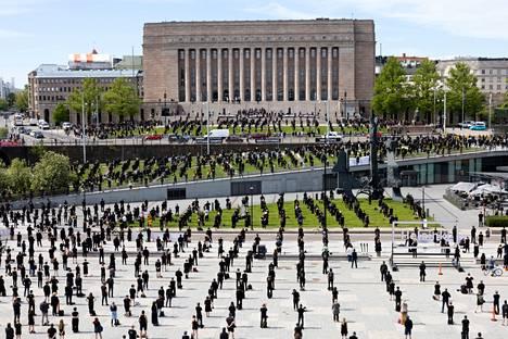 Kulttuuri- ja tapahtuma-ala osoitti mieltään torstaina 3. kesäkuuta 2021.