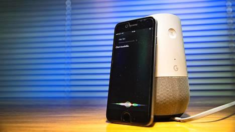 Ääniohjausta käytetään muun muassa Applen iPhonessa ja Googlen laitteissa.