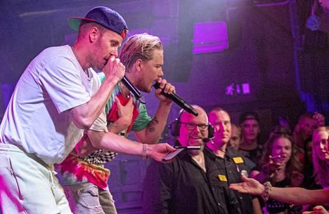 JVG esiintymässä Mäntsälässä kesällä 2019.