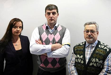 Evgenija Vasik (vas.), Denis Pertsev ja Aleksandr Nesterov.