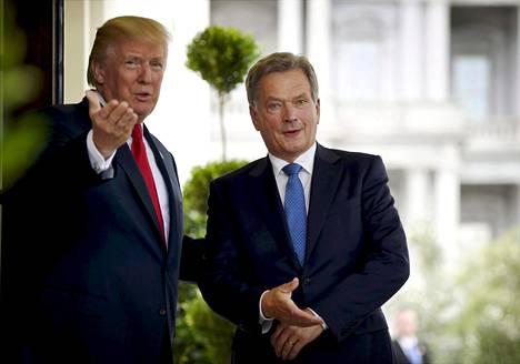 Presidentti Sauli Niinistö vieraili Valkoisessa talossa Donald Trumpin vieraana elokuussa 2017.