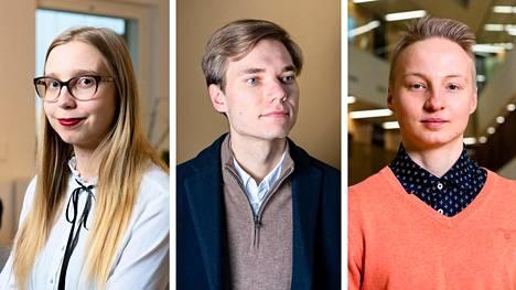 Heidi Häyrynen, Jooa Mustonen ja Elias Järventaus ovat nuoria taloustietäjiä, joiden huolet epidemian seurauksista talouteen ovat pitkälti yhteneviä.
