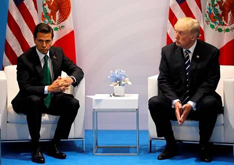 Meksikon presidentti Enrique Peña Nieto ja Yhdysvaltain presidentti Donald Trump tapasivat Hampurissa heinäkuun alussa.