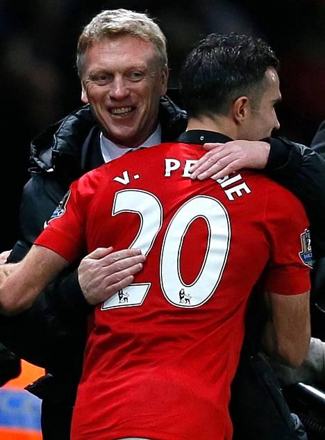 Manageri David Moyes halasi Arsenal-ottelun ainoan maalin tehnyttä Robin van Persietä.
