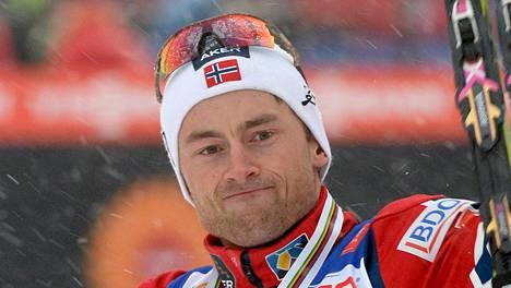 Petter Northug voitti urallaan kaksi olympiakultaa ja 13 maailmanmestaruutta. Kuva vuoden 2015 Falunin MM-kisoista.