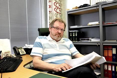 Kihkakunnansyyttäjä Jarmo Valkama.