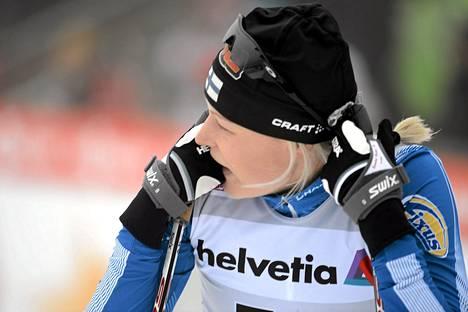 Anne Kyllönen sijoittui kolmanneksi Tour de Ski -hiihtokiertueen takaa-ajoetapilla.