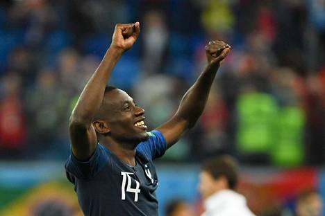 Välieräottelun jälkeen Ranskan Blaise Matuidi oli onnellinen.