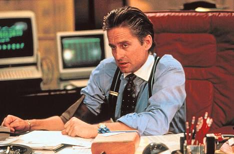 Michael Douglas sai Oscarin pörssihai Gekkon roolistaan.