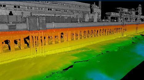 Rakenne on pysyvästi veden alla, joten sitä voivat tutkia vain sukeltajat.