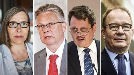Päivi Kairamo, Pertti Rauhio, Petri Knape ja Antti Pelttari hakevat johtamaan suojelupoliisia, joka on keskellä historiansa suurinta muutosta.