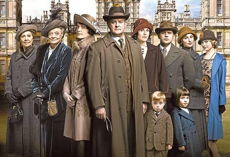 Crawleyn perheen tapaa Downton Abbeyssa Areenassa vielä tänään.