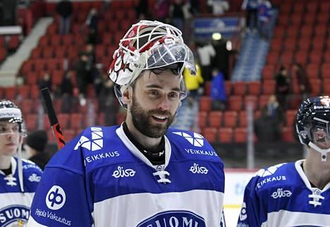 Maalivahti Frans Tuohimaa pelasi Leijonissa Ruotsin EHT-turnauksessa helmikuun alussa.