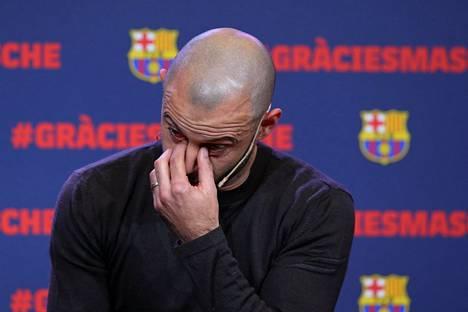 Javier Mascherano jäähyväisseremoniassaan keskiviikkona.