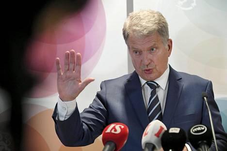 Presidentti Sauli Niinistö puhui tiistaina vuosittaisilla suurlähettiläspäivillä.