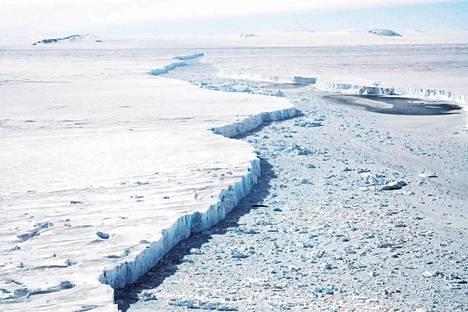 Pine Islandin jäätikkö Kun lämmin merivesi pääsee virtaamaan jäähyllyn alle, se sulattaa itse jäätikköä ja maahan kiinnittymisen kohta eli pohjautumislinja vetäytyy. Juuri näin on käynytkin sekä Thwaitesissa että Pine Islandissa.
