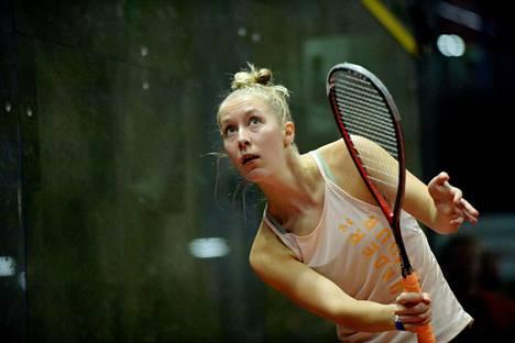 Emilia Soini on Suomen squashin kirkkain tähti.