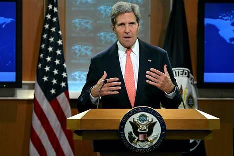 John Kerry otti maanantaina kantaa Syyrian tilanteeseen.