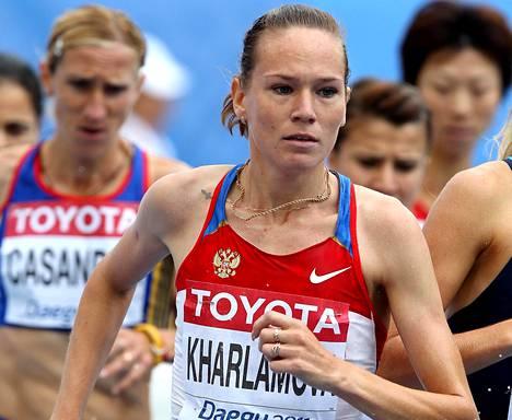 Ljubov Kharlamova kuvattuna vuoden 2011 MM-kisoissa.