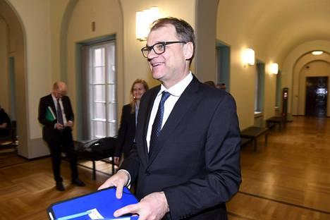 Pääministeri Juha Sipilä eduskunnassa keskiviikkona.