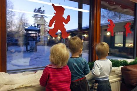 Yrttitien päiväkodissa Vantaalla odotettiin joulua vuonna 2009.