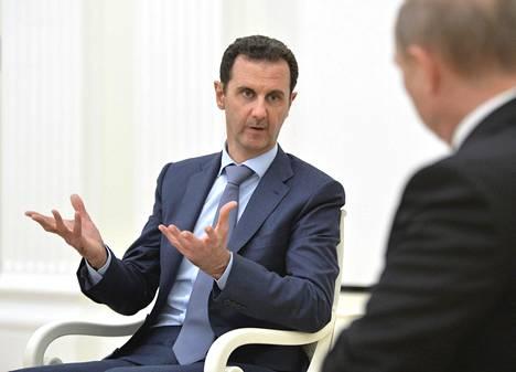 Syyrian presidentti Bashar al-Assad keskusteli Venäjän presidentin Vladimir Putinin kanssa Moskovassa tiistaina 20. lokakuuta.