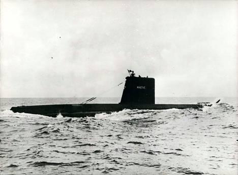 Minerve-sukellusvene kuvattuna 28.1.1968.