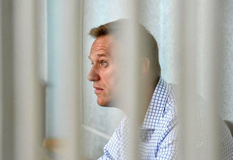 Aleksei Navalnyi oikeudessa viime viikon maanantaina.