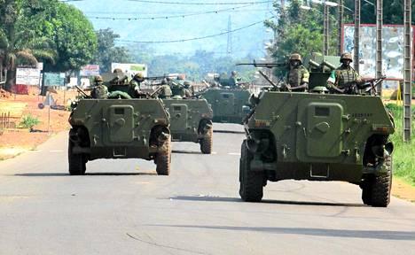 Afrikan unionin rauhanturvaajat Banguissa Keski-Afrikassa maaliskuun lopulla.