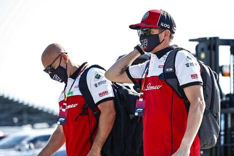 Kimi Räikkösen asema sunnuntain kilpailuun kohentui hieman.