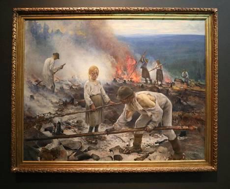 Kun Eero Järnefelt maalasi Raatajat rahanalaiset eli Kasken, katovuodet olivat tuoreessa muistissa.