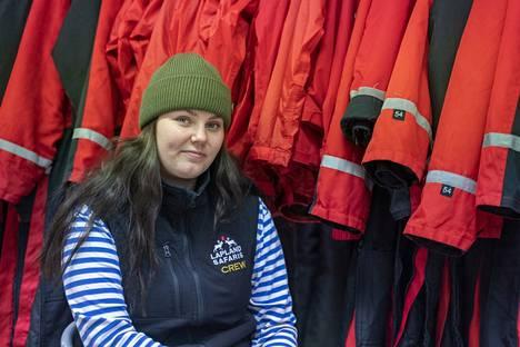 Eveliina Lainio odottaa paluuta oppaaksi vanhaan kausityöpaikkaansa Lapland Safaris -yritykseen.