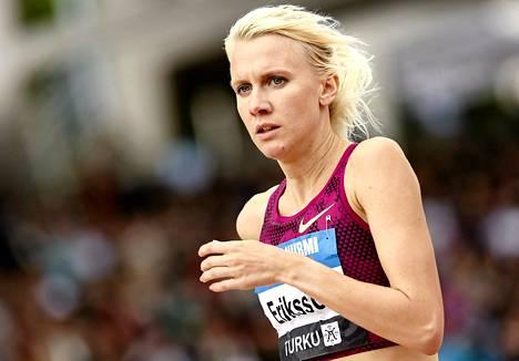 Sandra Eriksson on 3000 metrin estejuoksussa Euroopan kauden tilastokakkonen.