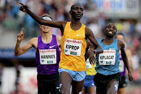 Asbel Kiprop juoksi huippuajan Monacossa.