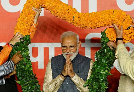Intian pääministeri Narendra Modi on Janata -puolueen johtaja.