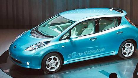 Nissanin Leaf-sähköauto tulee myyntiin ensi vuoden lopussa