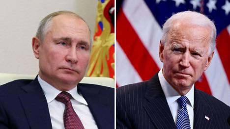 Venäjän presidentti Vladimir Putin ja Yhdysvaltain presidentti Joe Biden
