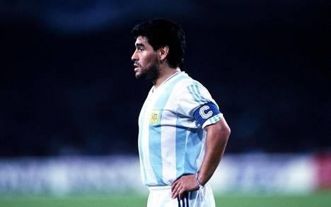 Diego Maradona pelasi Argentiinan paidassa muun muassa vuoden 1990 MM-kisoissa.