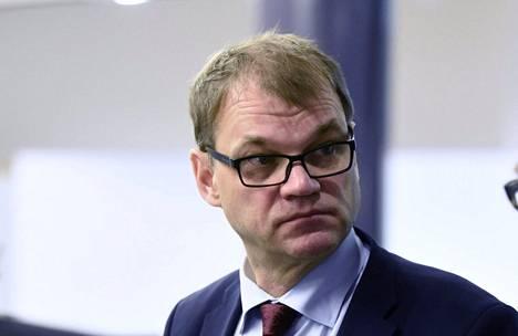 Pääministeri Juha Sipilä Helsingissä eduskunnassa keskiviikkona.