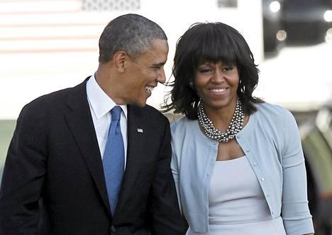 Barack Obama ja hänen vaimonsa Michelle vierailivat torstaina Teksasissa George W. Bushin instuutin avajaisissa.